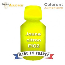 Colorant alimentaire - JAUNE CITRON E102