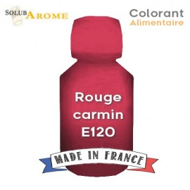Colorant alimentaire - ROUGE CARMIN E120