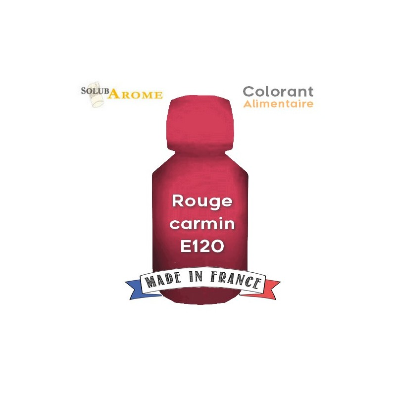 Colorant alimentaire - ROUGE CARMIN E120 42ef9eed117