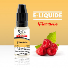 eliquide framboise solubarome 10 ml nicotiné pour cigarette électronique made in france