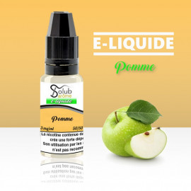 eliquide pomme solubarome 10 ml nicotiné pour cigarette électronique made in france