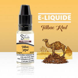 eliquide tabac kml solubarome 10 ml nicotiné pour cigarette électronique made in france